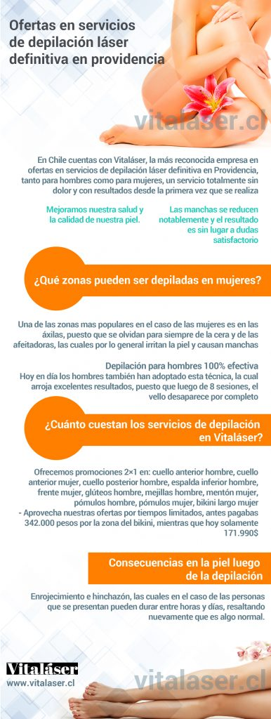 OFERTAS EN SERVICIOS DE DEPILACIÓN LÁSER DEFINITIVA EN PROVIDENCIA