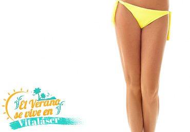 Depilación Láser Rebaje Bikini Largo + Pierna Inferior
