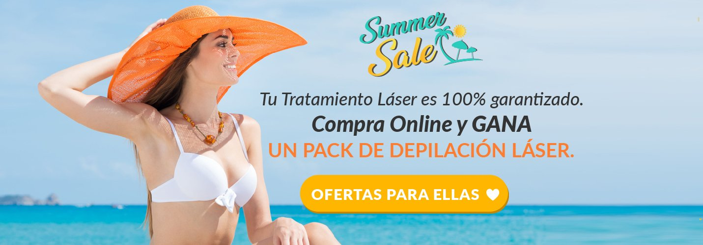 Depilación Láser Alexandrita Mujer - Summer Sale
