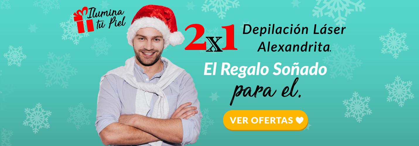Depilación Láser Alexandrita Hombre Navidad