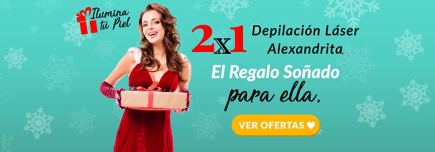 Depilación Láser Alexandrita Mujer Navidad