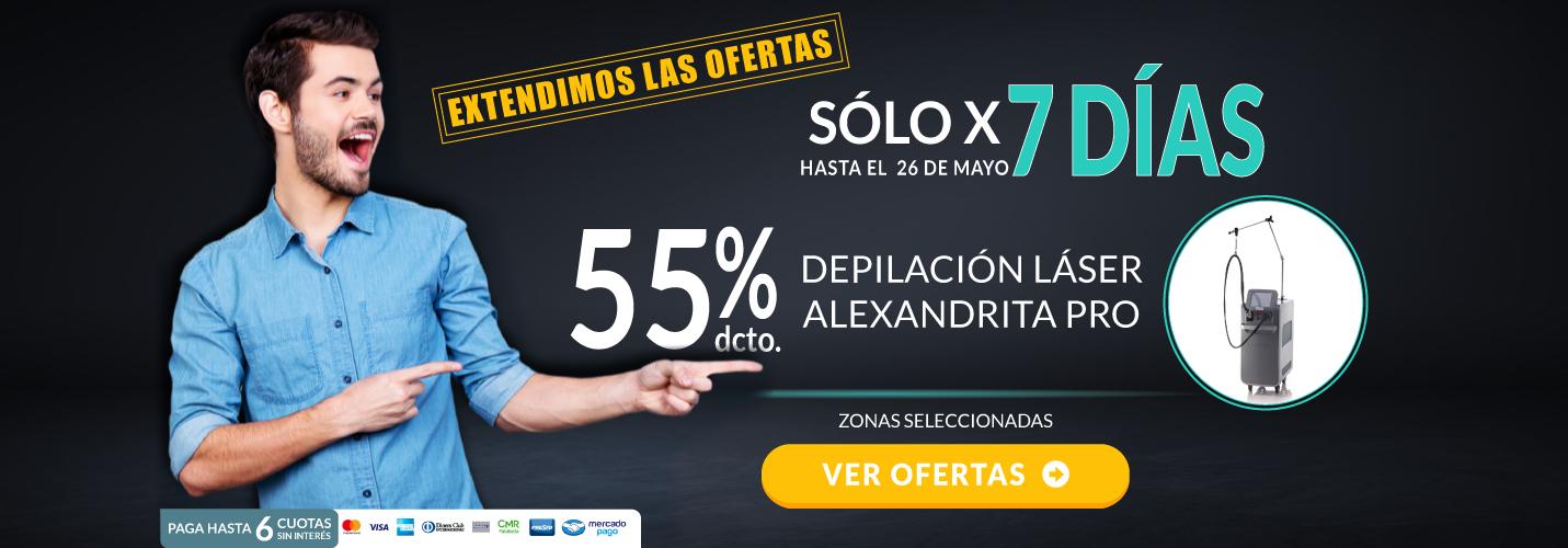 Depilación Láser Alexandrita PRO Hombre - Sólo x 7 días