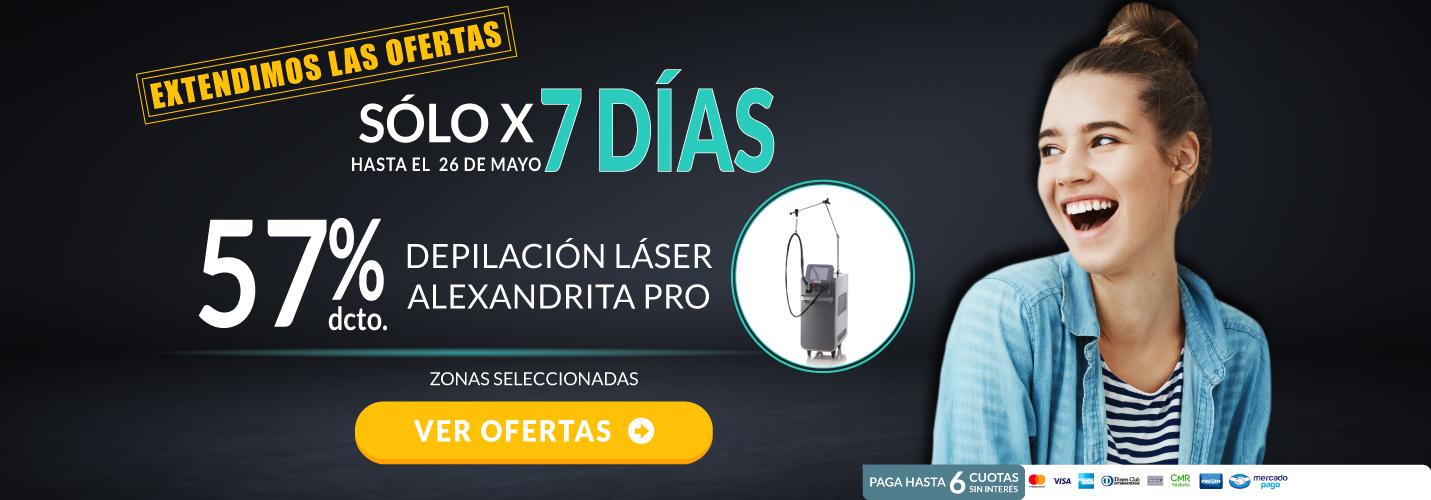 Depilación Láser Alexandrita PRO Mujer - sólo x 7 días