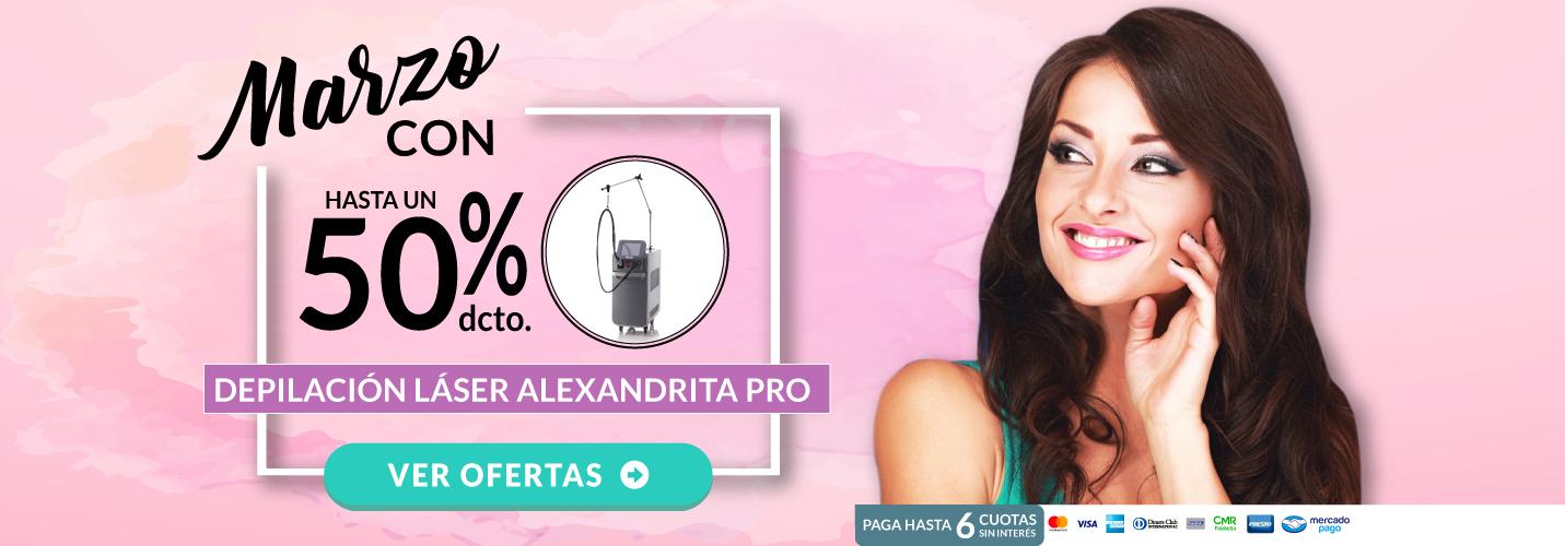 Depilación Láser Alexandrita PRO Mujer