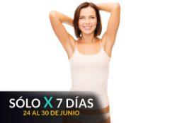 Depilación Láser Axilas + Brasileño + Interglúteo.